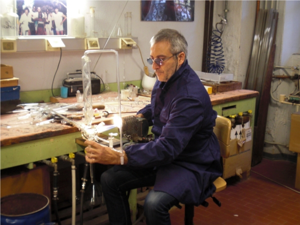activity in the DiSC glassblowing workshop
