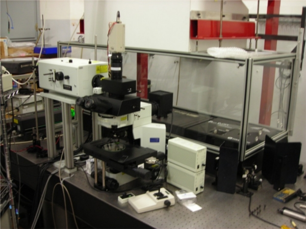 optical bench for laser spectroscopies