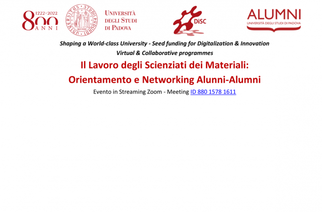 Collegamento a Shaping a World-class University - Seed funding for Digitalization & Innovation Virtual & Collaborative programmes