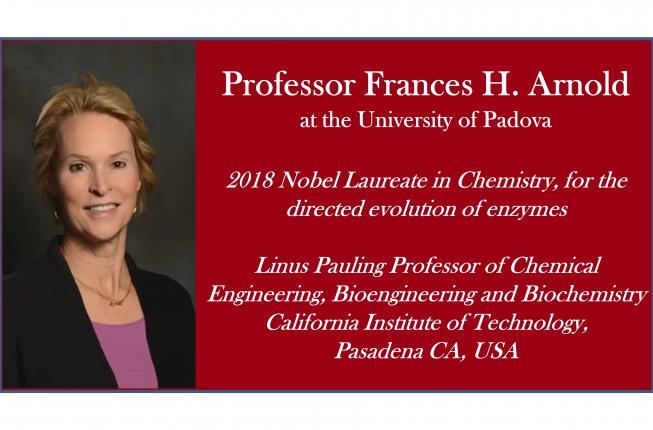 Collegamento a Prof.ssa Frances Arnold, Conferimento dottorato ad Honorem